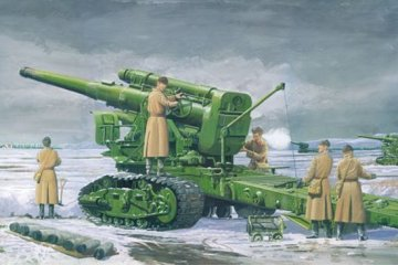 Russian Army B-4 M1931 203mm Howitzer · TRU 02307 ·  Trumpeter · 1:35