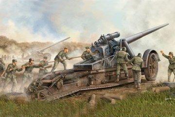 German 17cm Kanone 18 Heavy Gun · TRU 02313 ·  Trumpeter · 1:35