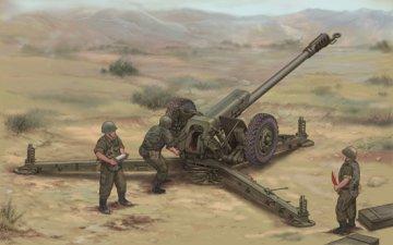 Soviet D30 122mm Howitzer-Late Version · TRU 02329 ·  Trumpeter · 1:35