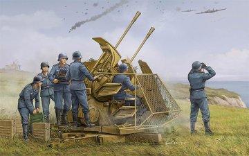 German 37mm Flak 43 Zwilling · TRU 02347 ·  Trumpeter · 1:35