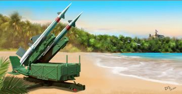 Soviet 5P71 Launcher with 5V27 Missile Pechora (SA-3B Goa) Rounds Loaded · TRU 02353 ·  Trumpeter · 1:35