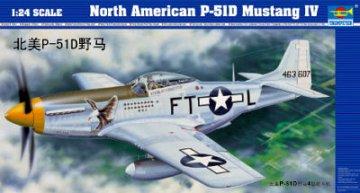 North American P-51 D Mustang IV · TRU 02401 ·  Trumpeter · 1:24