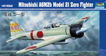 Mitsubishi A6M2b Zero Typ 21 · TRU 02405 ·  Trumpeter · 1:24