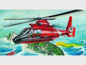 Aerospatiale HH-65A Dolphin · TRU 02801 ·  Trumpeter · 1:48