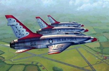 F-100D in Thunderbirds livery · TRU 02822 ·  Trumpeter · 1:48