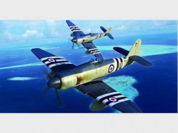 Hawker Sea Fury FB.11 · TRU 02844 ·  Trumpeter · 1:48