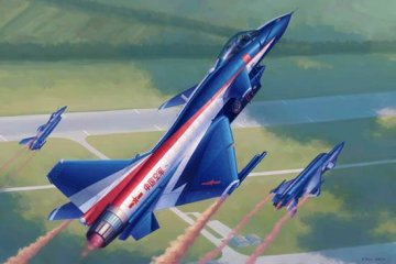 PLA J-10AY Vigorous Dragon-Ba Yi Aerb.T. · TRU 02857 ·  Trumpeter · 1:48