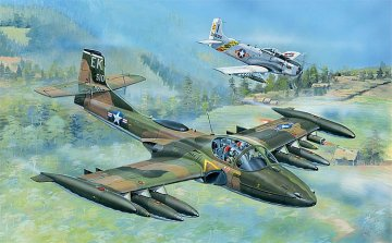 US A-37A Dragonfly Light Ground-Attack · TRU 02888 ·  Trumpeter · 1:48