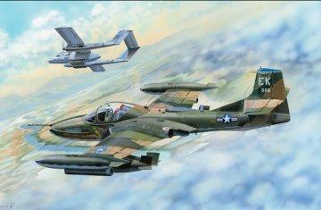 US A-37B Dragonfly Light Ground-Attack · TRU 02889 ·  Trumpeter · 1:48