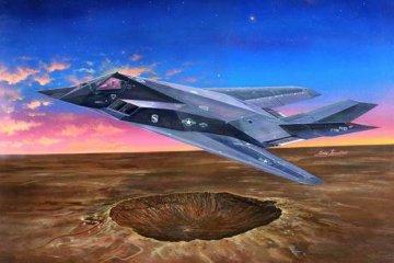 F-117A Nighthawk · TRU 03219 ·  Trumpeter · 1:32