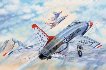 F-100D in Thunderbirds livery · TRU 03222 ·  Trumpeter · 1:32