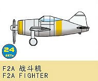 F2A Fighter (24 St.) · TRU 03440 ·  Trumpeter · 1:700