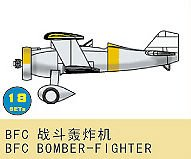 BFC Bomber - Fighter (18 St.) · TRU 03444 ·  Trumpeter · 1:700