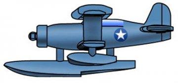 SOC-3 Seagull Scout Plane · TRU 03451 ·  Trumpeter · 1:700