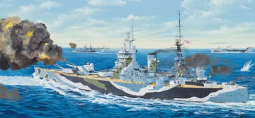 HMS Nelson 1944 · TRU 03708 ·  Trumpeter · 1:200
