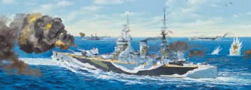 HMS Rodney · TRU 03709 ·  Trumpeter · 1:200