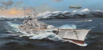 German Scharnhorst Battleship · TRU 03715 ·  Trumpeter · 1:200