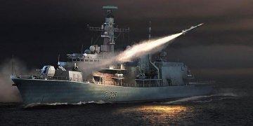HMS TYPE 23 Frigate - Monmouth (F235) · TRU 04547 ·  Trumpeter · 1:350