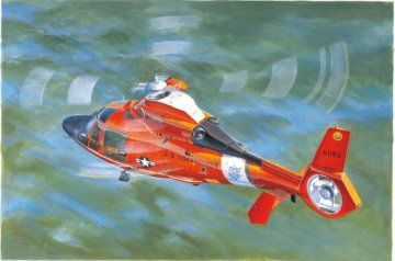 US Coast Guard HH-65C Dolphin Helicopter · TRU 05107 ·  Trumpeter · 1:35