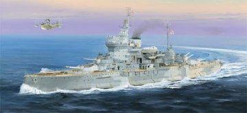 Battleship HMS Warspite · TRU 05325 ·  Trumpeter · 1:350