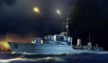 HMS Zulu Destroyer 1941 · TRU 05332 ·  Trumpeter · 1:350