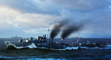 HMCS Huron Destroyer 1944 · TRU 05333 ·  Trumpeter · 1:350