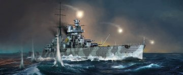 Italian Heavy Cruiser Fiume · TRU 05348 ·  Trumpeter · 1:350