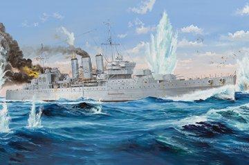 HMS Cornwall · TRU 05353 ·  Trumpeter · 1:350