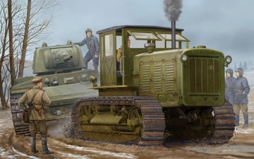 Russian ChTZ S-65 Tractor with Cab1 · TRU 05539 ·  Trumpeter · 1:35