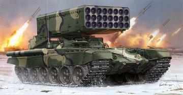 Russian TOS-1 24-Barrel Multipe Rocket L · TRU 05582 ·  Trumpeter · 1:35