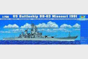 Schlachtschiff USS Missouri BB-63 1991 · TRU 05705 ·  Trumpeter · 1:700
