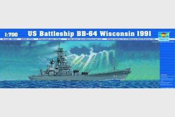 Schlachtschiff USS Wisconsin BB-64 1991 · TRU 05706 ·  Trumpeter · 1:700