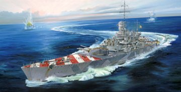 Italian Navy Battleship RN Roma 1943 · TRU 05777 ·  Trumpeter · 1:700