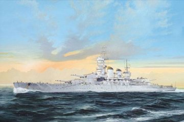 Italian Navy Battleship RN Littro 1941 · TRU 05778 ·  Trumpeter · 1:700