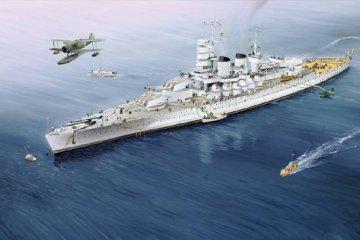 Italian Navy Battleship RN V.Veneto 1940 · TRU 05779 ·  Trumpeter · 1:700