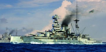 HMS Barham 1941 · TRU 05798 ·  Trumpeter · 1:700
