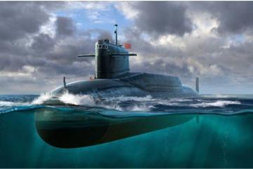 PLAN Type 092 Xia Class Submarine · TRU 05910 ·  Trumpeter · 1:144