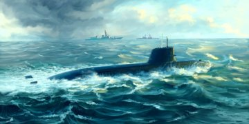 Japanese Soryu Class Attack Submarine · TRU 05911 ·  Trumpeter · 1:144