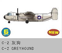6 x C-2 Greyhound · TRU 06238 ·  Trumpeter · 1:350