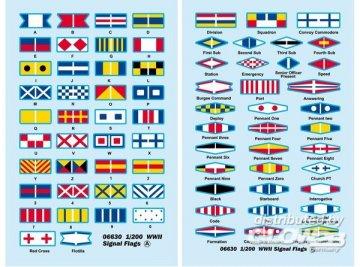 WWII Signal Flags · TRU 06630 ·  Trumpeter · 1:200