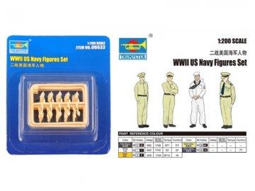 WWII US Navy Figures Set · TRU 06633 ·  Trumpeter · 1:200