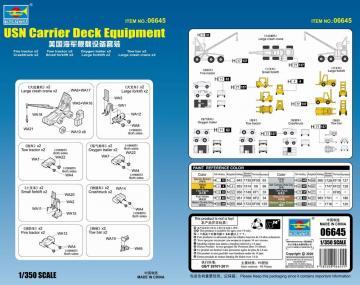 USN Carrier Deck Equipment · TRU 06645 ·  Trumpeter · 1:350