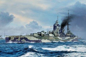 HMS Rodney · TRU 06718 ·  Trumpeter · 1:700
