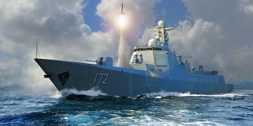 PLA Navy Type 052D Destroyer · TRU 06732 ·  Trumpeter · 1:700
