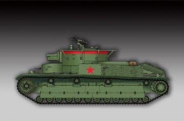 Soviet T-28 Medium Tank (Welded) · TRU 07150 ·  Trumpeter · 1:72