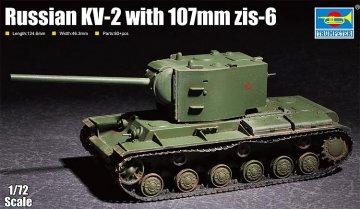 Russian KV-2 with 107mm zis-6 · TRU 07162 ·  Trumpeter · 1:72