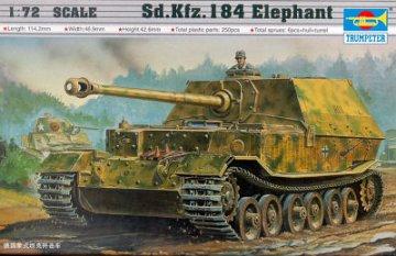 Sd.Kfz. 184 Tiger Elefant · TRU 07204 ·  Trumpeter · 1:72