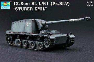 Sturer Emil 12,8 cm Sf. L/61 Pz.Sf.V · TRU 07210 ·  Trumpeter · 1:72