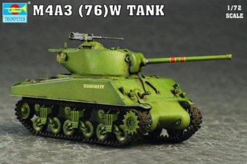 M4A3 76(W) Tank · TRU 07226 ·  Trumpeter · 1:72