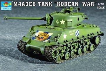 M4A3E8 Tank (T80 Track) · TRU 07229 ·  Trumpeter · 1:72
